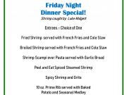 Basnight's Lone Cedar Outer Banks Seafood Restaurant, Friday Night Dinner Special